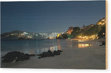 Wood Print featuring the photograph Night Walk On La Ropa by Jim Walls PhotoArtist
