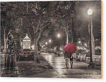 Night Walk Wood Print