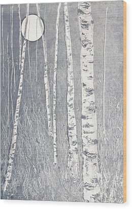 Night Watchmen Wood Print by Lisa Le Quelenec
