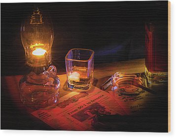 Night Work Wood Print by Mark Dunton