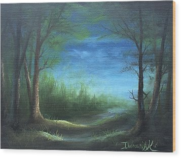 Nightfall In The Boggs  Wood Print
