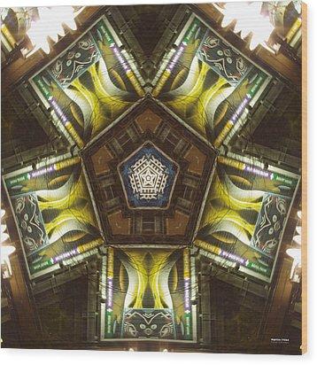 Nightlife 1724k5 Wood Print by Brian Gryphon