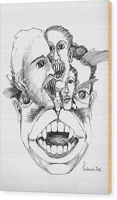 Nightmares Wood Print by Padamvir Singh