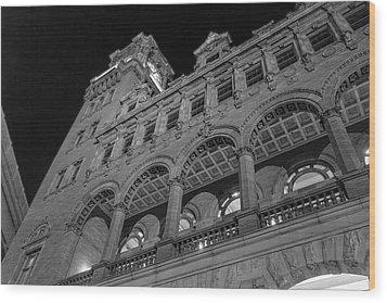 Nights At Main Street Station Wood Print