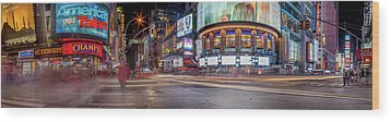 Wood Print featuring the photograph Nights On Broadway by Az Jackson