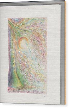 Nightshine Wood Print by Rich Graham