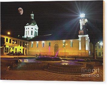 Wood Print featuring the photograph Nighttime At San Sebastian by Al Bourassa