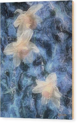 Nighttime Narcissus Wood Print by RC deWinter