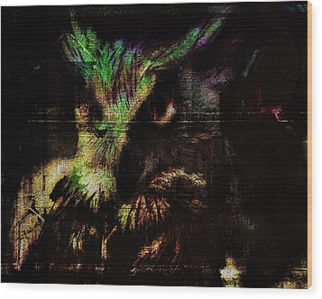 Nightvision Wood Print by Mimulux patricia no No