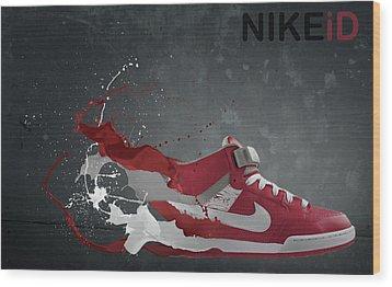 Nike Id Wood Print by Tom  Layland