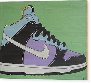 Nike Shoe Wood Print by Grant  Swinney