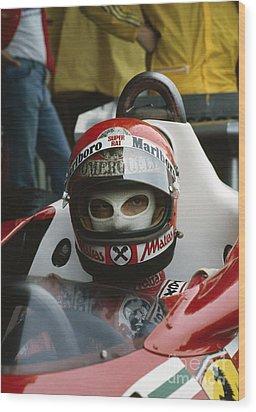Niki Lauda. 1977 Austrian Grand Prix Wood Print