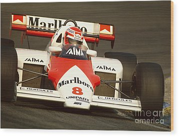 Niki Lauda. 1984 Dutch Grand Prix Wood Print