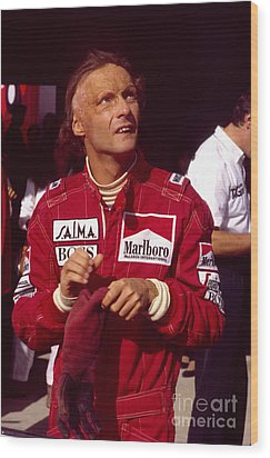 Niki Lauda. Marlboro Mclaren International Wood Print