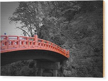 Nikko Red Bridge Wood Print