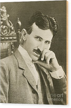 Nikola Tesla, Serbian-american Inventor Wood Print