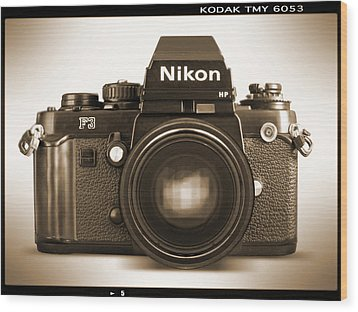 Nikon F3 Hp Wood Print by Mike McGlothlen