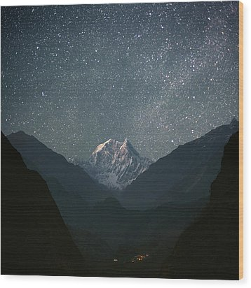 Nilgiri South (6839 M) Wood Print by Anton Jankovoy