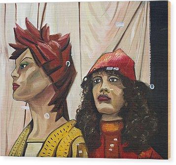 Nina And Star Wood Print by Patricia Arroyo