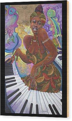 Nina Simone Wood Print by Lee Ransaw