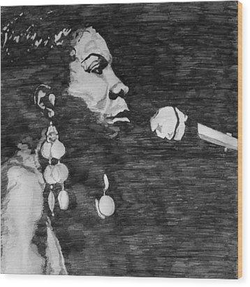Nina Simone Wood Print by Rachel Natalie Rawlins