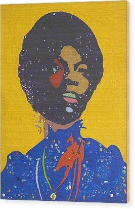 Nina Simone Wood Print