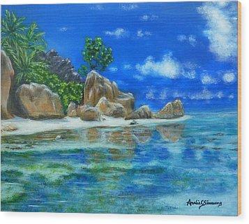 Nina's Beach Wood Print