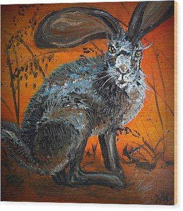 Nina's Rabbit Wood Print