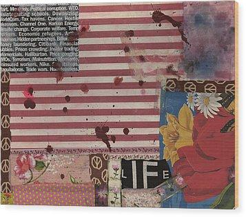 Nine Eleven Wood Print by Gloria Von Sperling