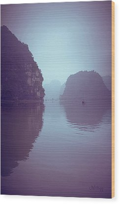 Ninh Binh River Wood Print by Joseph Westrupp