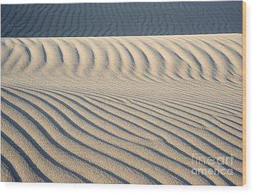 Nipomo Dunes Wood Print by Ronald Hoggard