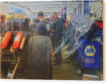 Nitro Methane Wood Print by Michael Cleere