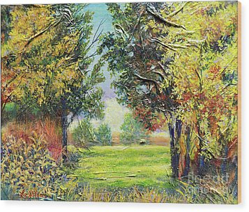 Nixon's A Tranquil Morning View Wood Print