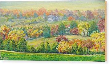 Nixon's Beauty Of Autumn Wood Print by Lee Nixon