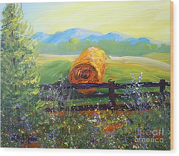 Nixon's Farm View Of Paradise Wood Print by Lee Nixon