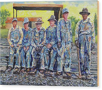 Nixon's Keepers Of The Railroad Wood Print