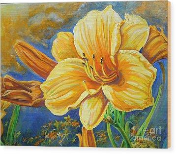 Nixon's Lily Of The Sunshine Wood Print by Lee Nixon