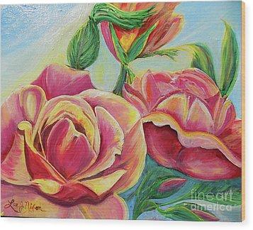 Nixon's Lovely Roses Wood Print