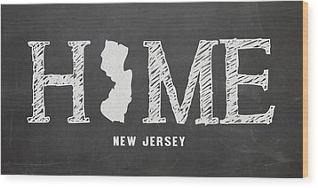 Nj Home Wood Print