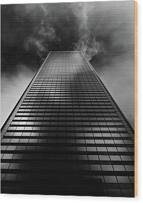 Wood Print featuring the photograph No 100 King St W Toronto Canada 1 by Brian Carson
