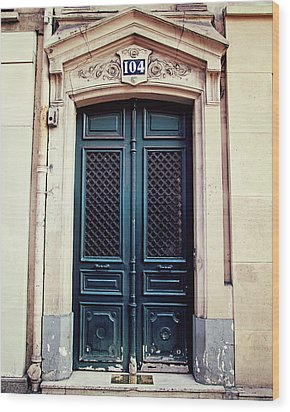 No. 104 - Paris Doors Wood Print