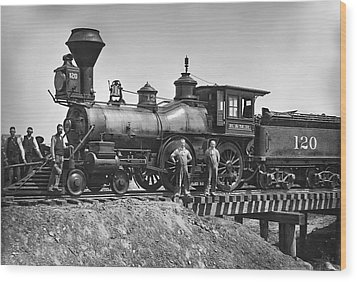 No. 120 Early Railroad Locomotive Wood Print by Daniel Hagerman