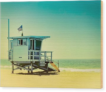 Wood Print featuring the photograph No 16 - Wish You Were Here by Douglas MooreZart