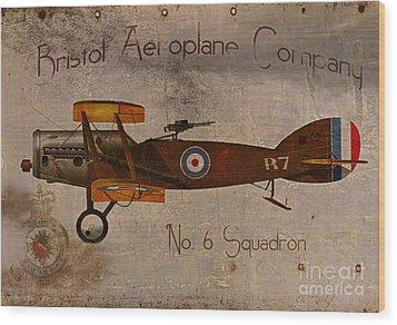 No. 6 Squadron Bristol Aeroplane Company Wood Print by Cinema Photography