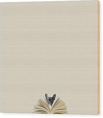 No Book No Party Wood Print