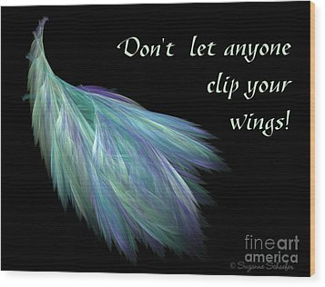 Wings Wood Print by Suzanne Schaefer