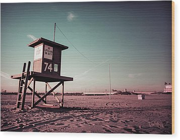 Wood Print featuring the photograph No Lifeguard On Duty by Joseph Westrupp