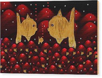 No More Cesium 137 Wood Print by Pepita Selles
