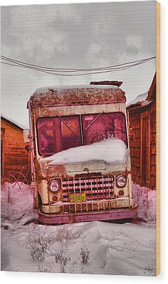 Wood Print featuring the photograph No More Deliveries by Jeff Swan
