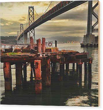 Wood Print featuring the photograph No Name Dock by Steve Siri